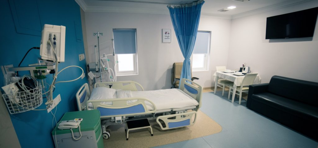 Clinic has their luxurious inpatient rooms that are equipped with made ready table, soft bed and own toilet/shower complex.